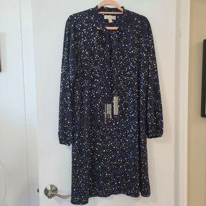 Michael Kors star print blue silver black dress 1X